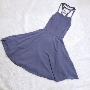Lulus Good Deeds Lace Up Skater Dress